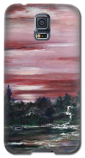 Red Sun Set  Galaxy S5 Case by Laila Awad Jamaleldin