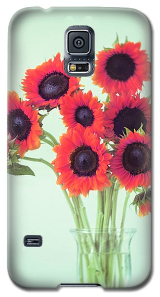 Red Sunflowers Galaxy S5 Case by Amy Tyler