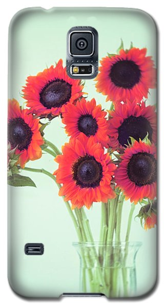 Red Sunflowers Galaxy S5 Case