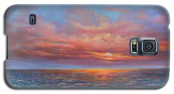 Red Sunset At Sea Galaxy S5 Case