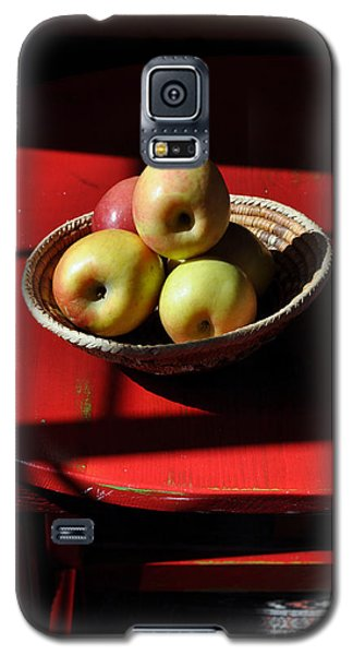Red Table Apple Still Life Galaxy S5 Case