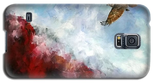 Galaxy S5 Case featuring the painting Red Tail by David  Maynard