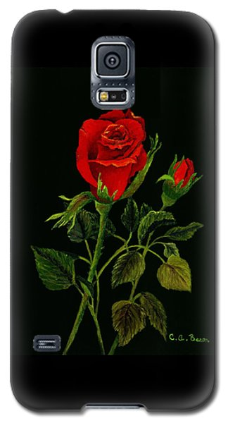 Red Tango Rose Bud Galaxy S5 Case