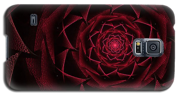 Red Textile Rose Galaxy S5 Case