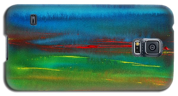 Red Tide Abstract Galaxy S5 Case