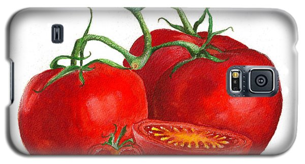 Galaxy S5 Case featuring the painting Red Tomatoes by Nan Wright