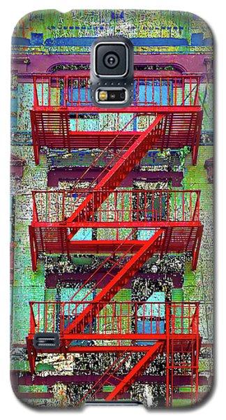 Galaxy S5 Case featuring the mixed media Red by Tony Rubino