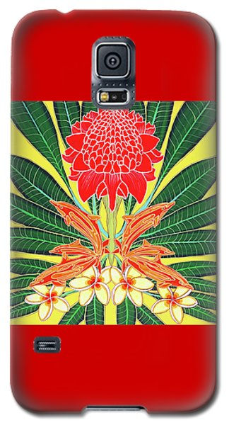 Red Torch Ginger Galaxy S5 Case by Debbie Chamberlin