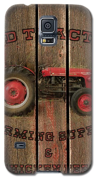 Red Tractor Farming Supply Galaxy S5 Case