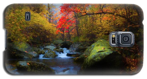 Red Tree In White Oak Canyon Galaxy S5 Case