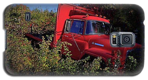 Truck Galaxy S5 Case - Red Truck by Jerry LoFaro
