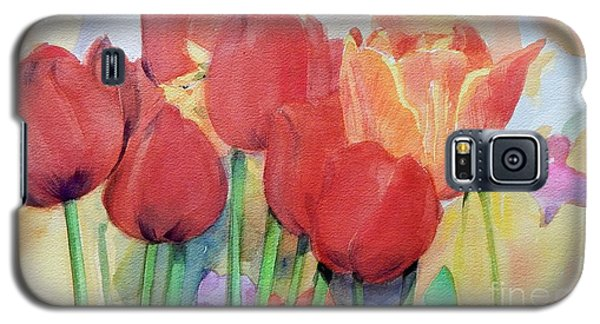 Red Tulips In Spring Galaxy S5 Case by Greta Corens