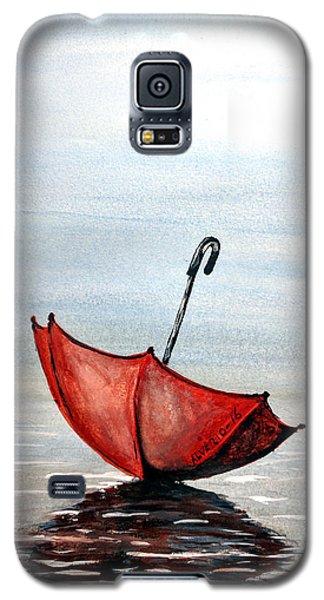 Red Umbrella Galaxy S5 Case by Edwin Alverio