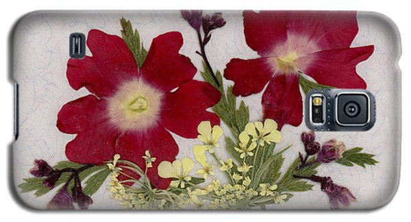 Red Verbena Pressed Flower Arrangement Galaxy S5 Case