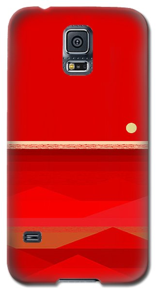 Red Waves Galaxy S5 Case
