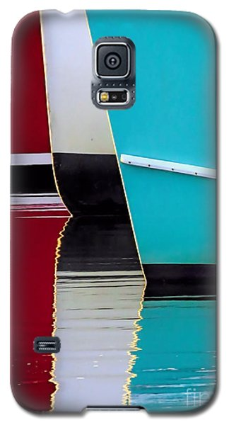 Galaxy S5 Case featuring the photograph Red White Blue Reflections by Janice Drew