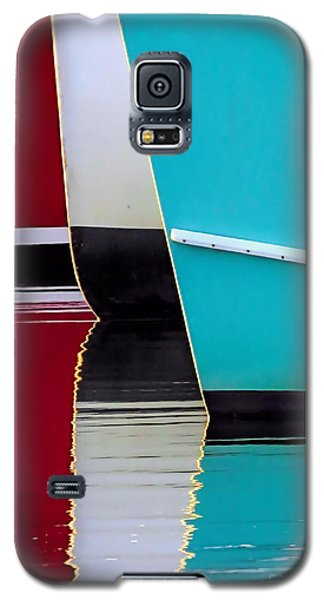 Red White Blue Reflections Galaxy S5 Case by Janice Drew
