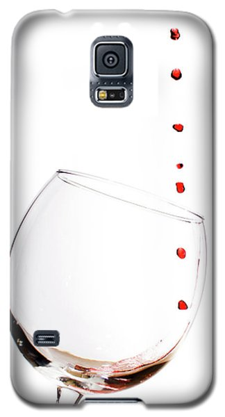 Red Wine Drops Into Wineglass Galaxy S5 Case
