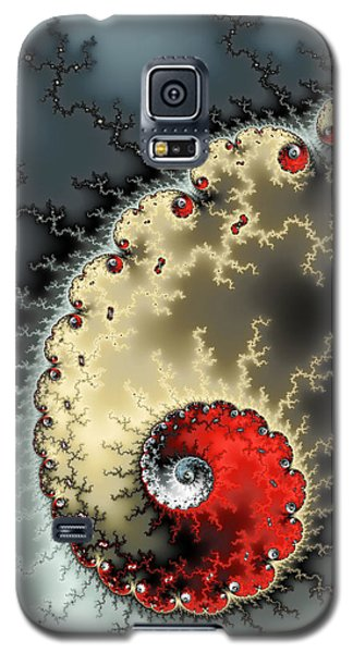 Red Yellow Grey And Black - Amazing Mandelbrot Fractal Galaxy S5 Case