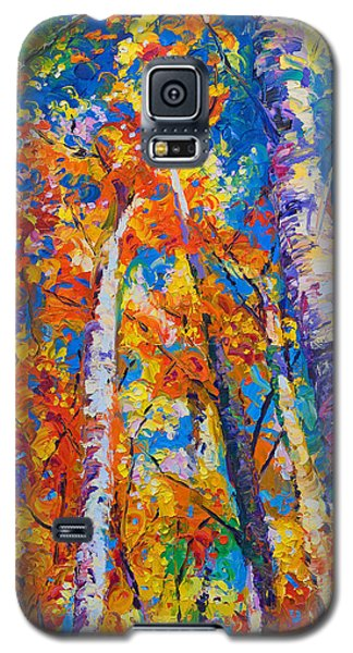 Redemption - Fall Birch And Aspen Galaxy S5 Case