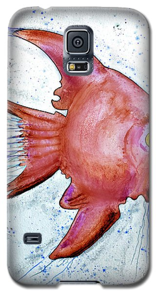 Galaxy S5 Case featuring the mixed media Redfish by Walt Foegelle