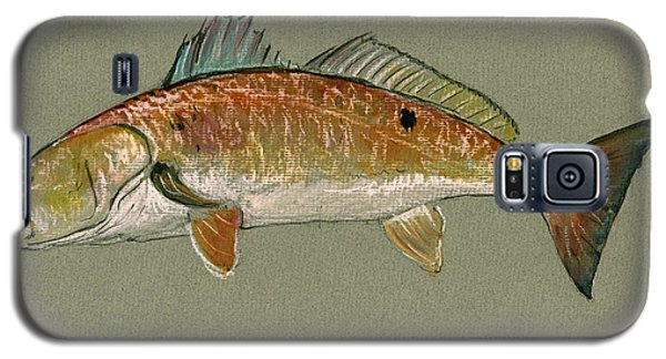 Redfish Watercolor Painting Galaxy S5 Case by Juan  Bosco