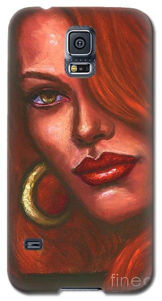 Galaxy S5 Case featuring the painting Redhead by Alga Washington