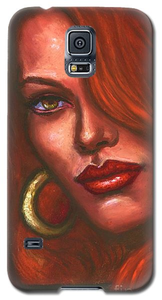 Redhead Galaxy S5 Case by Alga Washington