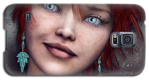 Redhead Galaxy S5 Case by Jutta Maria Pusl
