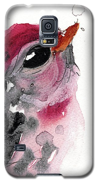 Galaxy S5 Case featuring the painting Redpole by Dawn Derman