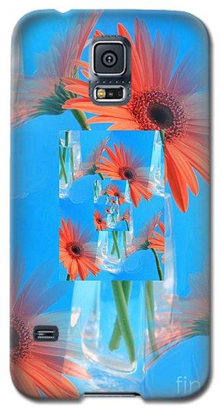 Redundant Gerbera Daisy Galaxy S5 Case