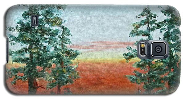 Galaxy S5 Case featuring the painting Redwood Overlook by Roseann Gilmore