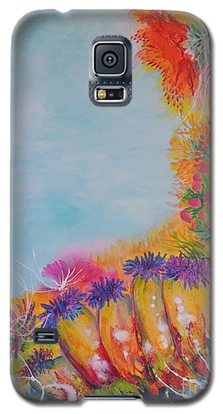 Galaxy S5 Case featuring the painting Reef Corals by Lyn Olsen
