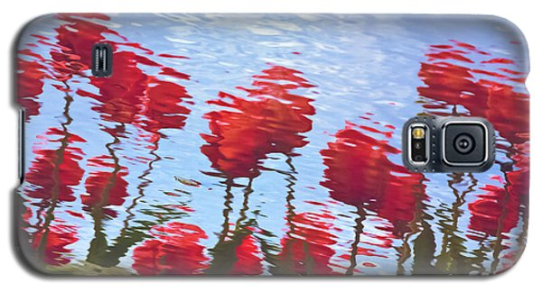 Galaxy S5 Case featuring the photograph Reflected Tulips by Tom Vaughan