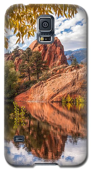 Galaxy S5 Case featuring the photograph Reflecting At Red Rocks Open Space by Christina Lihani