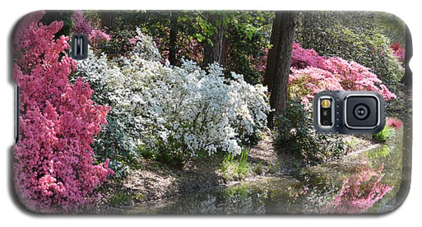 Galaxy S5 Case featuring the photograph Reflecting Azaleas by Linda Geiger