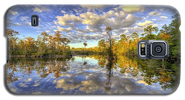 Galaxy S5 Case featuring the photograph Reflecting On Florida Wetlands by JC Findley