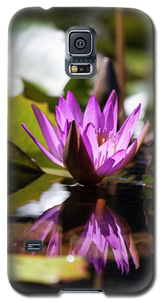 Galaxy S5 Case featuring the photograph Reflection In Fuchsia by Suzanne Gaff