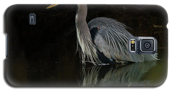 Galaxy S5 Case featuring the photograph Reflection Of A Heron by George Randy Bass