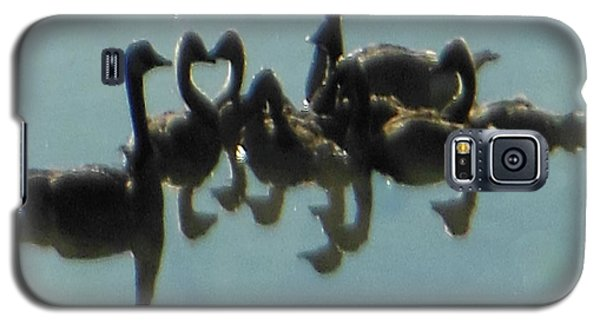 Galaxy S5 Case featuring the photograph Reflection Of Geese by Rockin Docks Deluxephotos