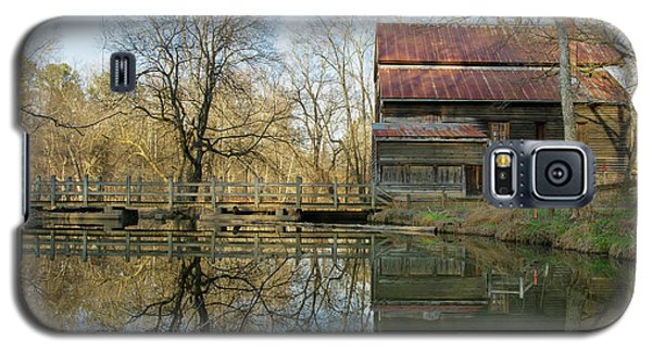 Galaxy S5 Case featuring the photograph Reflection On A Grist Mill by George Randy Bass