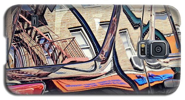 Galaxy S5 Case featuring the photograph Reflection On A Parked Car 18 by Sarah Loft