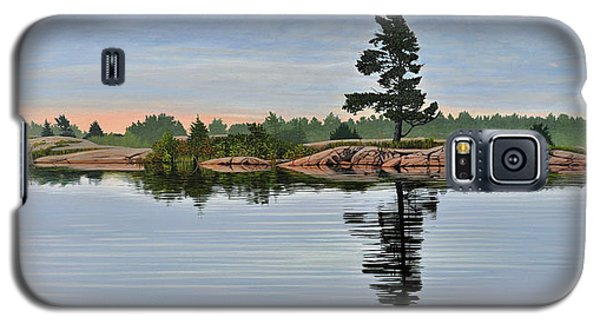 Galaxy S5 Case featuring the painting Reflection On The Bay by Kenneth M Kirsch