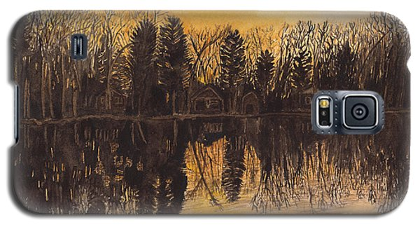 Reflections At Sunset On Bitely Lake Galaxy S5 Case