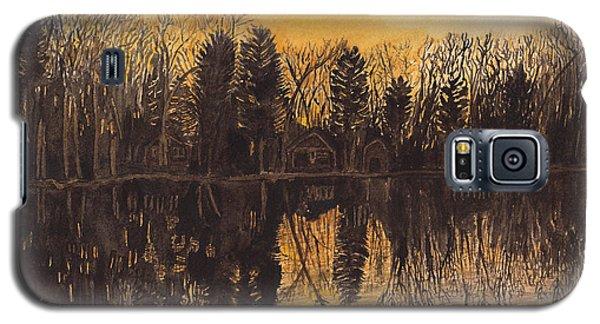 Reflections At Sunset On Bitely Lake Galaxy S5 Case