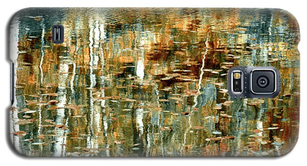 Galaxy S5 Case featuring the photograph Reflections In Teal by Ann Bridges