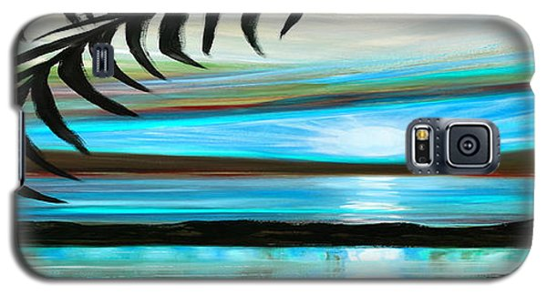 Reflections In Teal - Panoramic Sunset Galaxy S5 Case