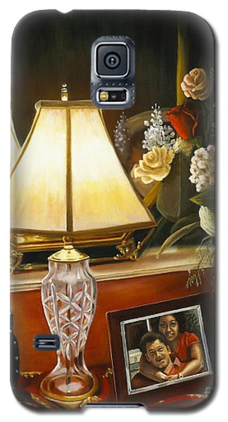 Galaxy S5 Case featuring the painting Reflections by Marlene Book