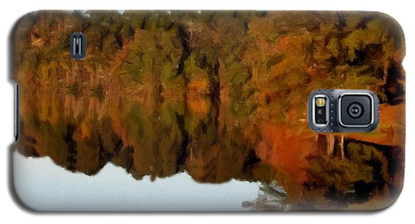 Reflections Of A Pennsylvania Autumn Galaxy S5 Case by David Dehner