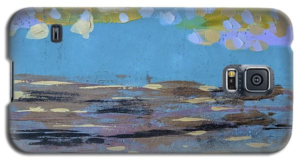 Galaxy S5 Case featuring the painting Reflections Of An Oregon Beach by Theresa Kennedy DuPay